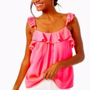 Lilly Pulitzer Cailee ruffle tank top